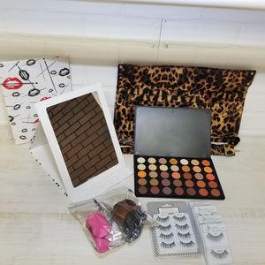 10 Pc Animal Print Makeup Kit Retail $106